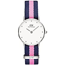 Daniel Wellington Uhr Classy Winchester Nato-blau-pink Damen Textilarmband NEU