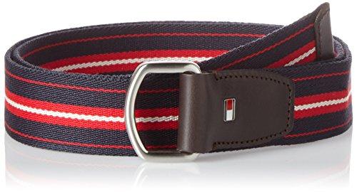 Tommy Hilfiger Herren Gürtel TH Stripe Webbing Belt 3.5 Mehrfarbig (Rwb 901), 90