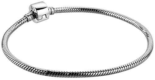 Nenalina Damen Charm- Bead-Armband aus 925 Sterling Silber, Länge 19 cm, kompatibel für alle gängigen Beads, 873019-019
