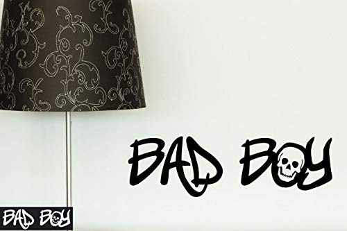 Kleb-drauf - 1 Bad Boy/Schwarz - matt - Aufkleber zur Dekoration von Wänden, Glas, Fliesen und Allen Anderen Glatten Oberflächen im Innenbereich; aus 19 Farben wählbar; in matt oder glänzend