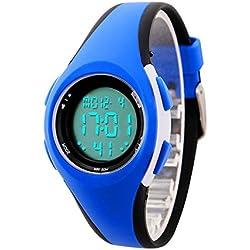 etows® garçons filles quartz montre numérique Sport LED Montre étanche 50 m étudiants Enfants 's montre poignet