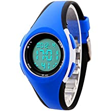 etows Impermeable Luces relojes Flash 50 m cronógrafo Digital niños niñas reloj de pulsera deportivo