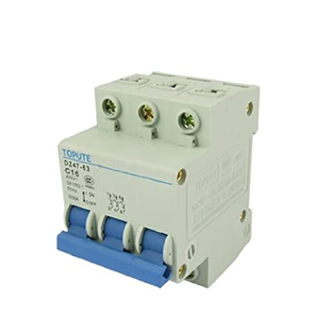 sourcingmap® AC 400V Three Pole Mini Circuit Breaker DZ47-63 C16