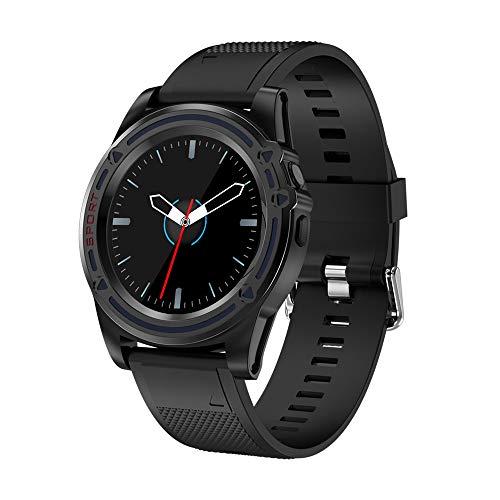 KKCF L'orologio Dell'inseguitore Di Attività Registra Il Braccialetto Astuto Impermeabile Smartwatch Compatibile Con Android E IOS,Black