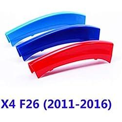 GOFORJUMP FÜR B/MW X4 F26 (2011-2016) dreifarbiger Netzwerk-Zierartikel x1 modifizierter Farbiger vorderer dekorativer dreifarbiger Verschluss