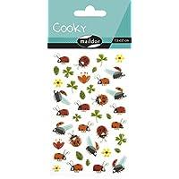 Maildor Cooky Sticker Sheet, Spring - Clover & Ladybirds