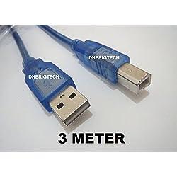 3metre imprimante USB câble de données Câble pour HP Photosmart 5520Wifi 7520Envy 120e