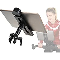 PHOTECS® Universal Tablet-Halterung Pro V1A, Klemm-Halter f. iPad Pro & Andere Tablet-PC´s o. Smartphones (5 bis 14 Zoll) an Ergometer, Fitnessgerät, Spinning, Heimtrainer/Hometrainer UVM. preisvergleich bei fajdalomcsillapitas.eu