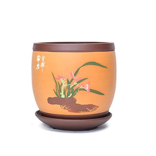 Unbekannt BOBE SHOP 18 * 18 * 19 CM Lila Sand Blumentopf Blumentopf mit Fach für Sukkulenten Topfpflanzen (Farbe : #1) -