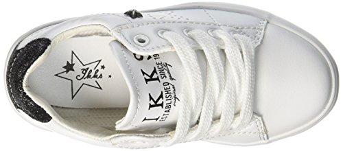 IKKS Molly, Baskets Basses Fille Blanc (11 Tts Noir/Blanc Dpf/Vulca)