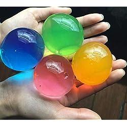 J&J - Lote de 30 Perlas de Agua de Gel de Colores Variados, para decoración de Bodas, Navidad, jardín, Cocina, salón
