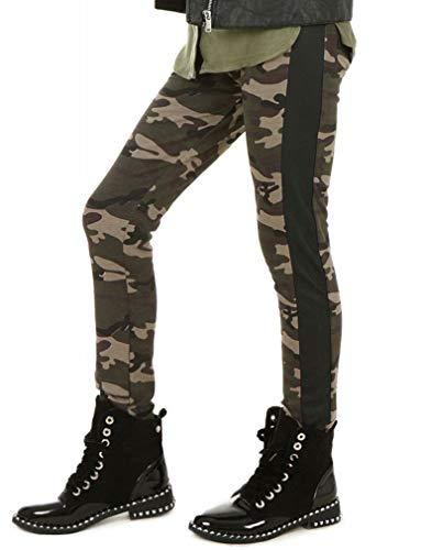Mädchen Warm Thermo Leggings Leggins Winter Kunstleder hk361 134 Camouflage