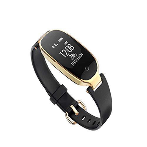 Shizhen Intelligente Armringe, Dreiergruppen-Schwerkraftsensoren, Hohe Bluthochdruck-Herzfrequenz, Ringe, Intelligenz. 64 * 128/K-Gold + Schwarz