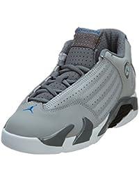 wholesale dealer c57f5 cc5b1 Jordan Unisex bebé 312092-004 Zapatillas Infantiles Nike Jordan 14 Retro BP  Gris Lobo