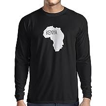 Camiseta de Manga Larga para Hombre Salvar Kenia - Camisa política, ...
