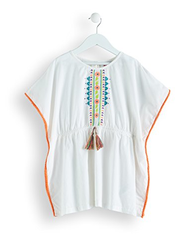 RED WAGON Girl's Embroidered Cotton Kaftan Beach Dress