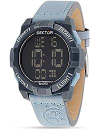 Sector Herren-Armbanduhr STREET FASHION Digital Quarz Leder R3251172049