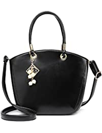 Urbantra Trendy Party Black Faux Leather Hand-Held Bag/Handbags/Shoulder Bags With Zip Closure & Adjustable Sling...