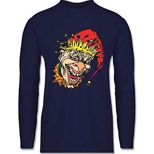 Karneval & Fasching - Clown - Joker - Longsleeve / langärmeliges T-Shirt für Herren Navy Blau