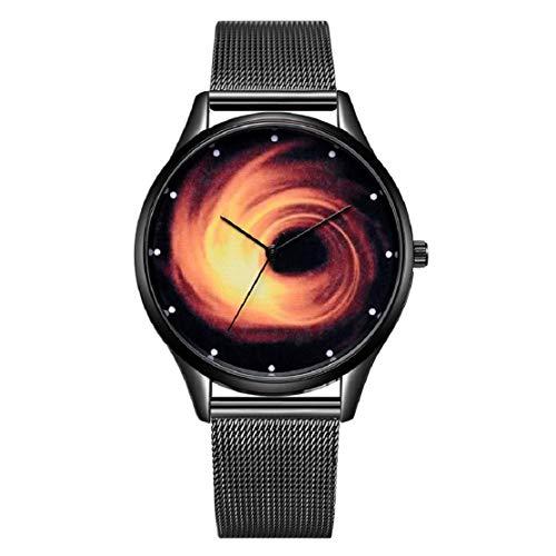 sum Schwarz Loch Mesh Gürtel Uhr Damen Quarzuhr Neuheit Kreative Kühle Armband Schmuck ()