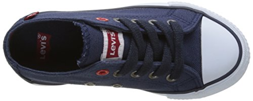Levi's Trucker Low Lace, Baskets Basses Garçon Bleu (Navy)