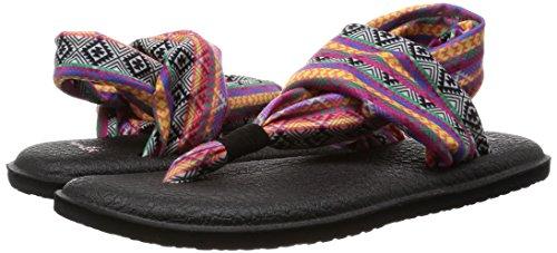 Sanuk Yoga Sling 2 Sandals Women magenta/multi tribal stripe