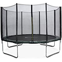 Alice's Garden 12ft trampoline with safety enclosure. Green - Saturne - Garden trampoline |PRO quality| EU Standards
