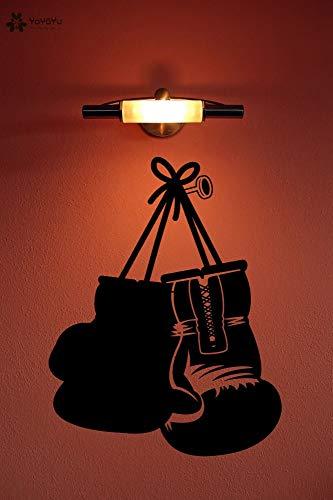 Adesivo Guantoni da boxe Adesivi murali in vinile Rimovibile Art Murale Home Decor Interni Ragazzi Camera da letto Regali Design Decal 33 * 42 CM