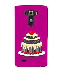 Cake Clipart 3D Hard Polycarbonate Designer Back Case Cover for LG G3 :: LG G3 Dual LTE :: LG G3 D855 D850 D851 D852