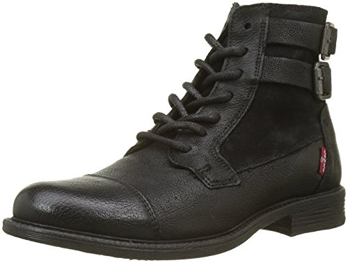 Levi's Damen Maine W Buckle Kurzschaft Stiefel, Schwarz (Regular Black), 39 EU -