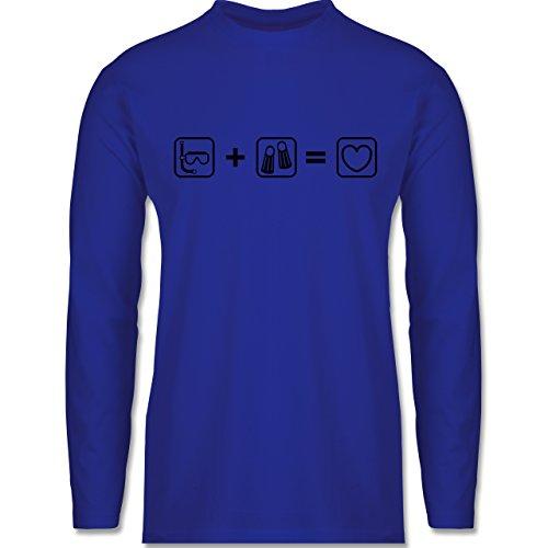 Sport - Taucherliebe - Longsleeve / langärmeliges T-Shirt für Herren Royalblau