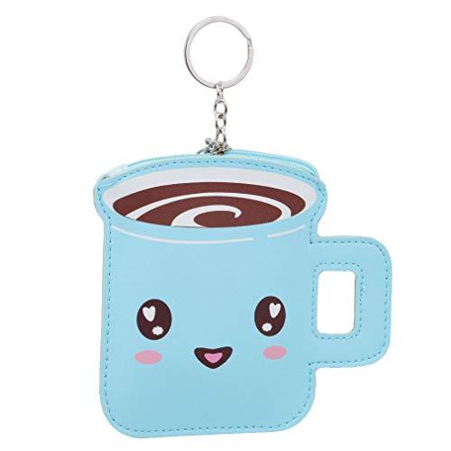 Underleaf Kreative Kaffeetasse Kinder Kawaii Geldbörse Für Münzen Mädchen Cartoon Mini...