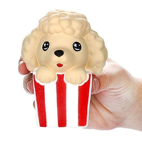 Dkings Squishy Stress Spielzeug,Geschenkbox Cartoon Dog Langsamer Anstieg Und Super Soft Niedlich Spielzeug Mit Duft Geschenk für Erwachsenen Kinder