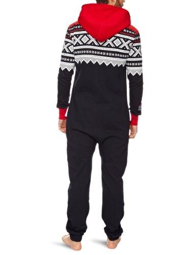 Onepiece Unisex Jumpsuit Marius, Mehrfarbig (Red/Navy/White) - 2