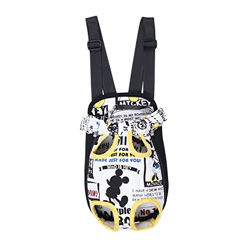 Lily 's Pet Carrier Brust Pack Hund Front-Stil Carrier Beine Out Pets tragbar praktisch Leichte Outdoor Reisen Behälter freie Hände S/M/L/XL Größe 4 Farben erhältlich (Luggage Strap Id)