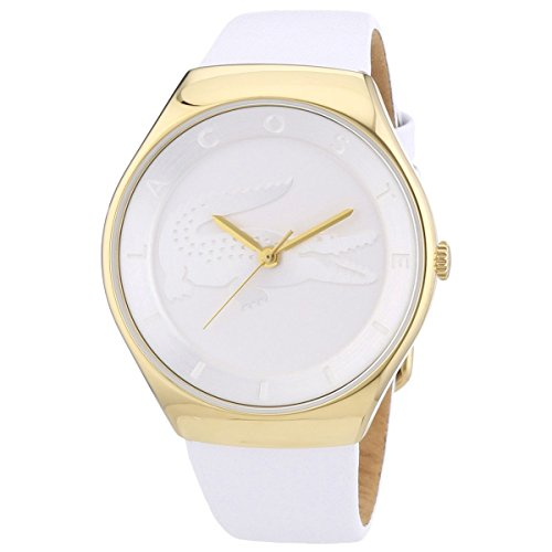 Lacoste Women's White Leather Mineral Glass Quartz Watch 2000763