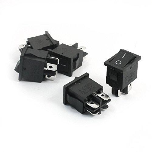 Dimart 5pcs AC 250V/125V 6A/10A Latching DPST on/off 2-Position Rocker Switch - Zwei Rocker Switches