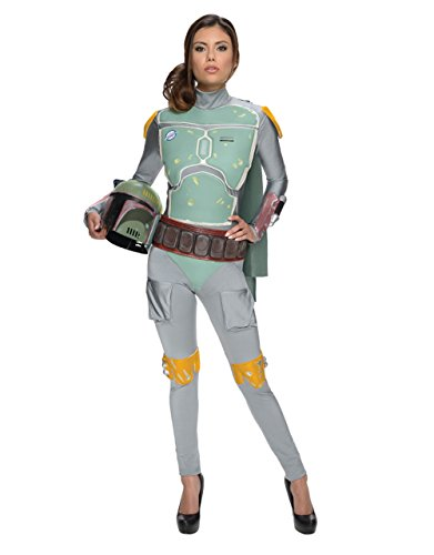 Star Wars Kostüm, Damen Boba Fett Outfit, XS, (USA 2–6), Brust 83,8–88,9cm Taille (Kostüme Damen Fett Boba)