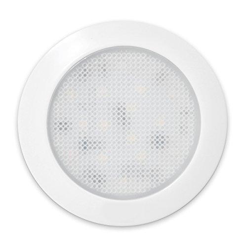 Preisvergleich Produktbild (Eltern) Dream Beleuchtung 12V 12,7cm LED Licht Paneele mit Fluoreszierende Schalter, weiß Shell