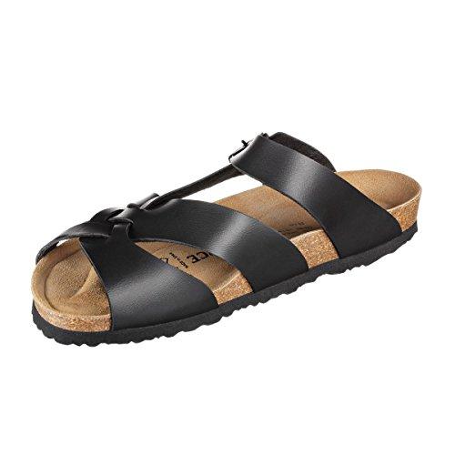 JOE N JOYCE Athen SynSoft sottopiede morbido sandali stretto Black