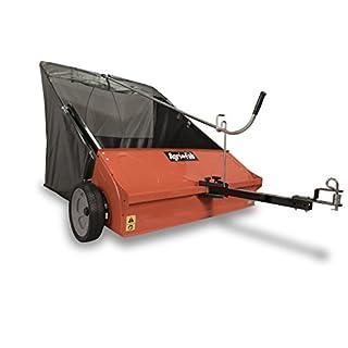 Agri-Fab AG45-0492 44-inch Towed Lawn and Leaf Sweeper - Black/Orange