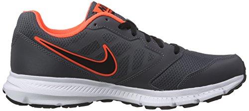 Nike Downshifter 6, Chaussures de course homme Grey / noir / Naranja / Blanc (Dark Grey / Blk-Hypr Orng-Blanc)