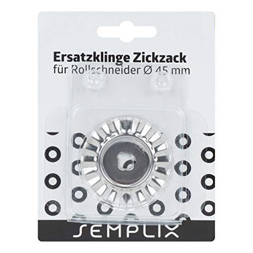 SEMPLIX Ersatzklinge Rollschneider Zickzack 45mm: Zum Nähen, Handarbeiten, Basteln | für Stoffe, Filz, Leder, Papier, Foto