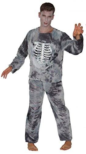 Zombie Kostüm Skelett Pirat, (Skelett Piraten Kostüm)