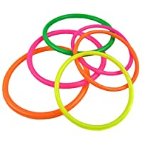 TININNA Quoits Garden Party, - Game Of Launch of the Rings Game of the Rings of Plastic, Set for Children, Indoor and Outdoor Environments 10 Rings