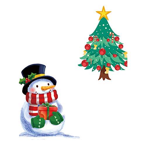 WopenJucy 1 x Weihnachten Fenster Aufkleber - Gel klammert Sich an Glas Dekoration