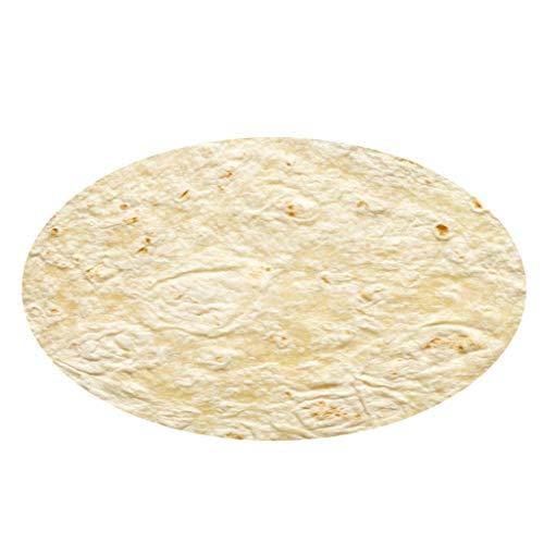 ZEELIY Teppich Outdoor Rund Mexikanischer Burrito Comfort Flanell Wohnzimmer Kinderzimmer Teppich 80cm Home Bed Decor