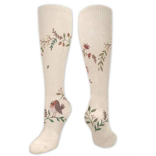Gped Kniestrümpfe,Socken Fairy Tales and Bird Compression Socks,Knee High Socks,Funny Socks for Women Men - Best Medical,Sports,Running, Nurses,Maternity,Pregnancy,Travel & Flight Socks