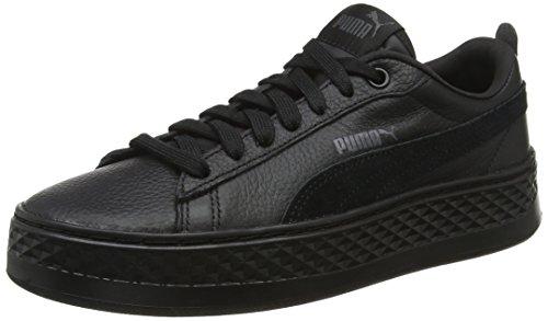 Puma Damen Smash Platform L Sneaker, Schwarz (Puma Black-Puma Black), 40.5 EU