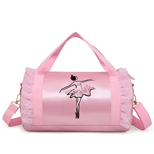 Wendywu - borsone da danza per bambine, borsa a tracolla per danza latina (rosa)